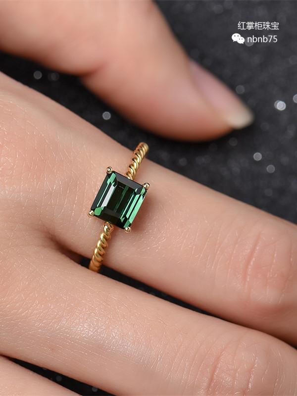 蜜蜡编织戒指图片