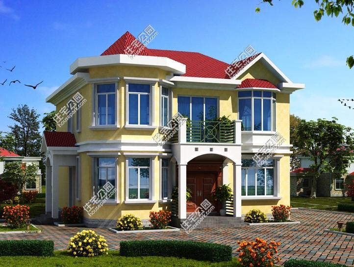 新农村自建二层别墅13x12米