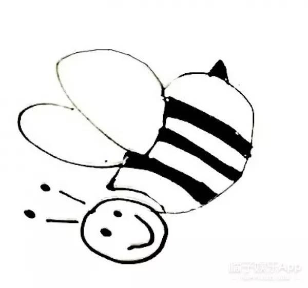 简笔画之蜜蜂与鸟↓