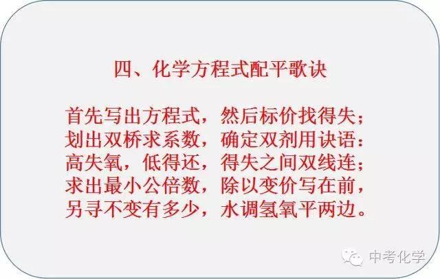 5个记忆口诀,让你轻松教育初中初中-二中学习搜狐化学潍坊图片
