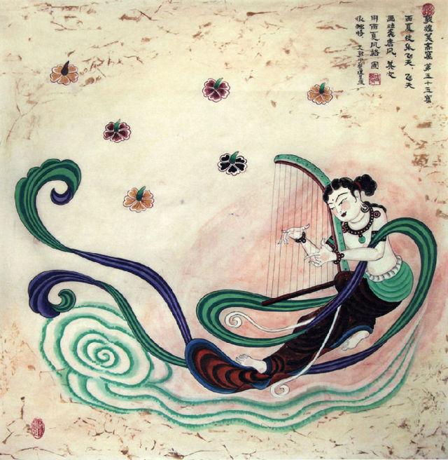 敦煌壁画中的飞天图片