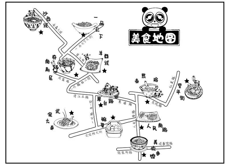 手绘武汉地图简笔画