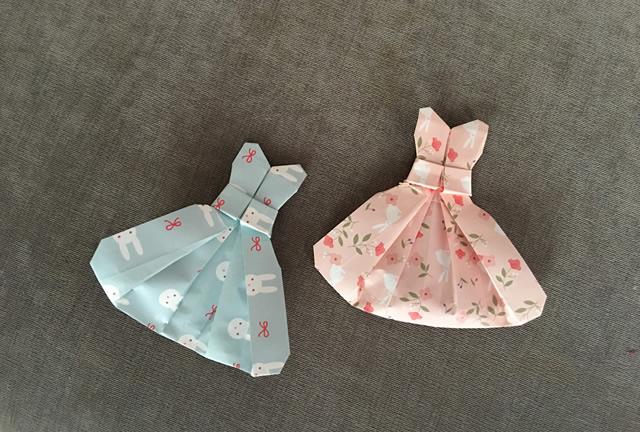 纸在乎你 手工折纸:公主裙折纸视频图解教学图片