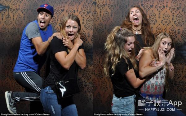他们在最恐怖游客拍下了表情表情包关你毛事的鬼屋:你们是来图片