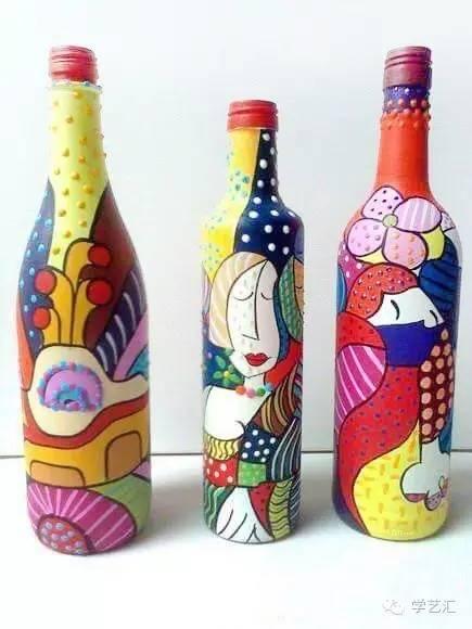 丙烯瓶子手绘图