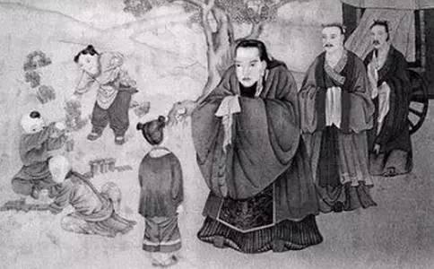 国学故事:孔子拜师图片