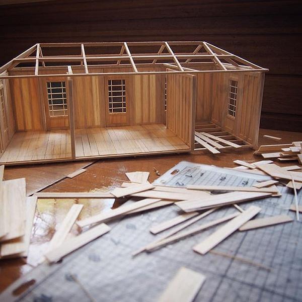 1房屋框架 先看看emily搭的房屋框架 长,宽,比例什么的,也是有讲究的.图片