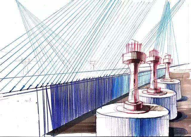 一点透视作图原理:建筑师法