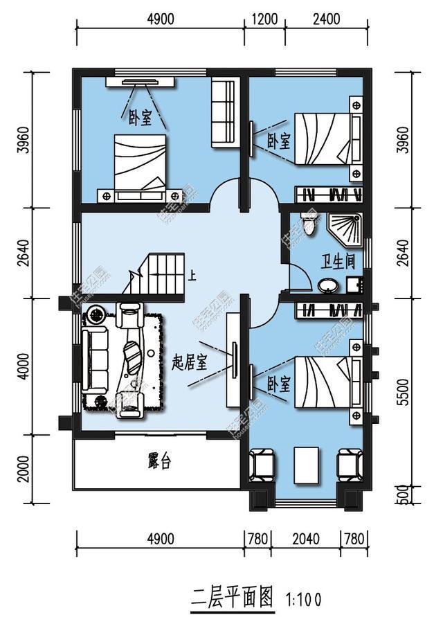 110平方自建房设计图