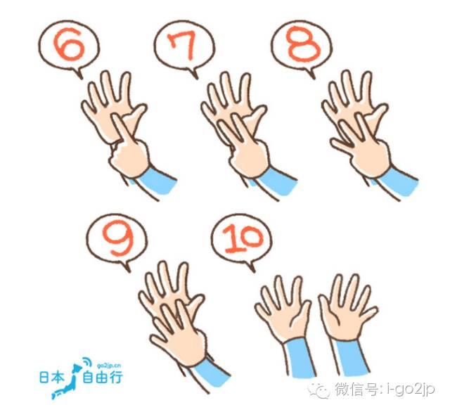 去日本你比对手势了吗?中日数字手势大不同!
