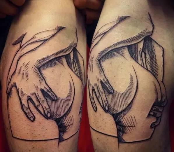 男人手臂上的纹身图案图片