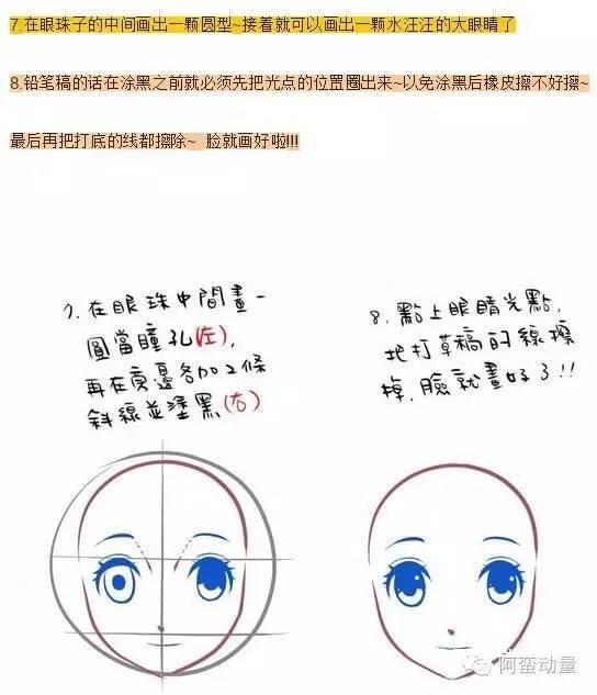 漫画人物脸部画法