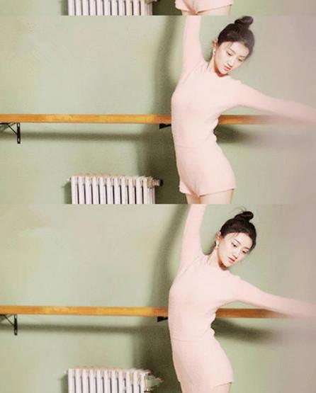 景甜重拾芭蕾舞拍大片图片