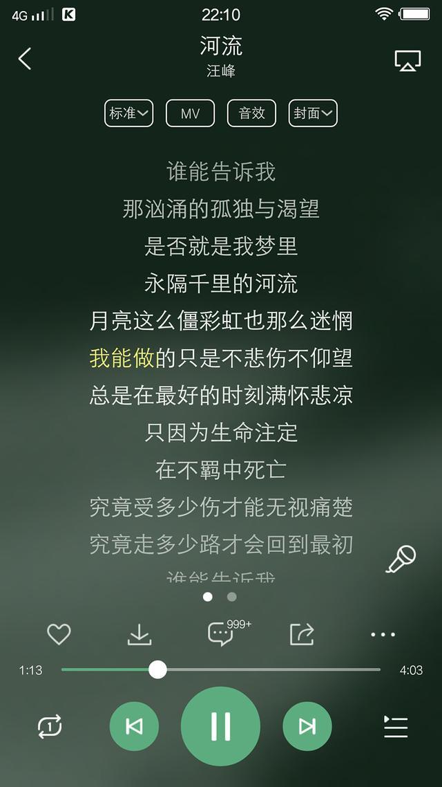 汪峰(蒋敦豪)《河流》之感慨