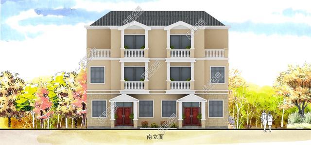 农村兄弟双拼自建房,带堂屋有后门 (600x281)-两层兄弟双拼乡村