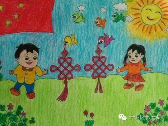 健康积极向上的绘画-塔尔坡学校开展 美丽中国 你我携手 绘画比赛活动