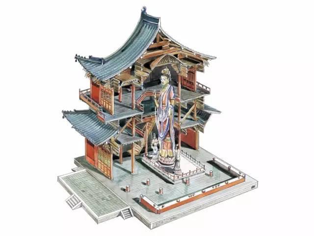 梁思成《〈图像中国建筑史〉手绘图》 由建筑大师梁思成,亲手绘制于70