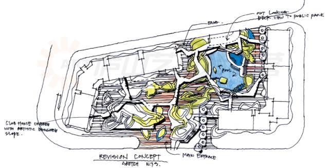 园林手绘制图平面图