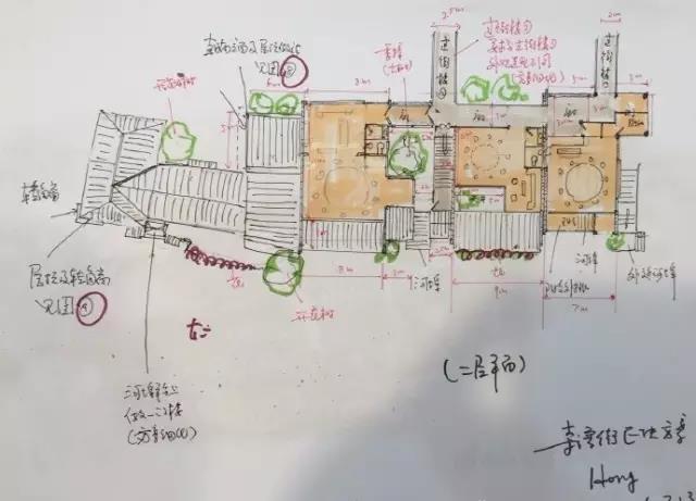 关于陈向宏先生亲自绘制乌镇规划图这件事,夏磊表示很惊讶.图片