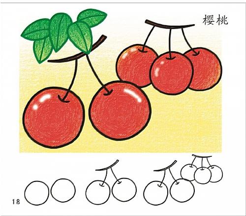 带儿歌系列简笔画之水果蔬菜 巧手教育