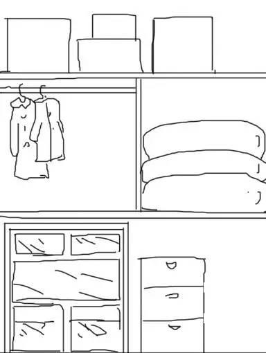 衣柜平面图简笔画