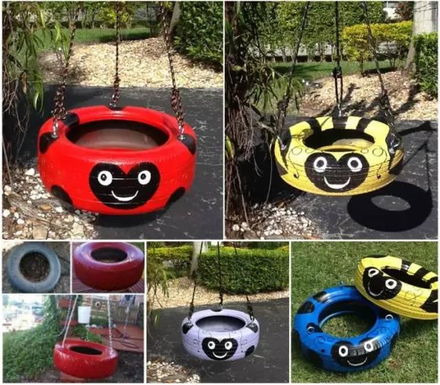 幼儿园的轮胎环创