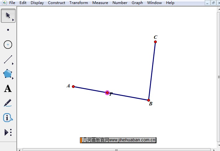 几何画板演示一个点在折线上的运动