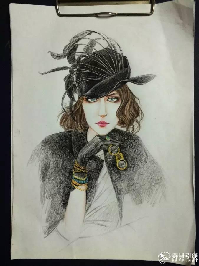 时尚手绘 | 彩铅时装画步骤