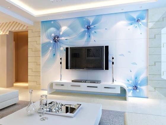 电视背景墙设计 瓷砖成新宠