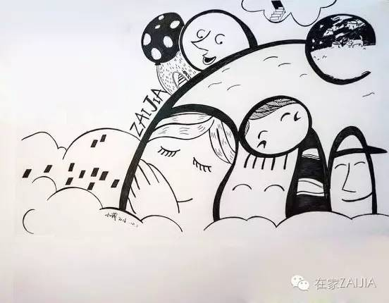 pop手绘简笔画卡通