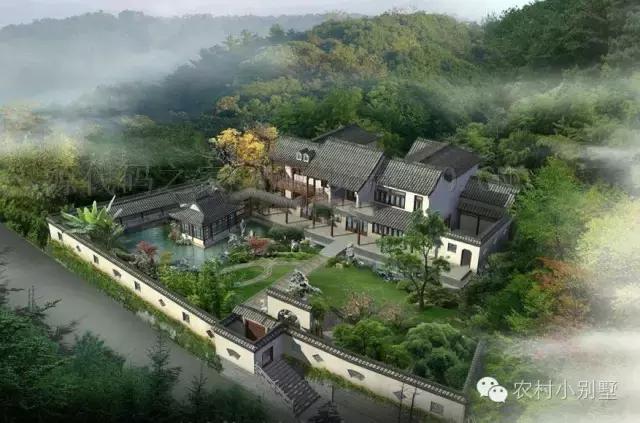 2016最新别墅农村庭院设计效果图设计欣赏用水农村注意事项别墅建图片