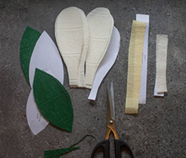 皱纹纸粘贴画获奖作品-你见过纸做的兰花吗