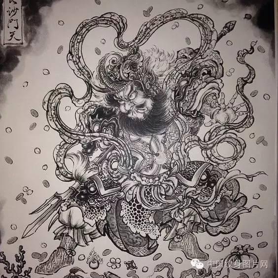 纹身素材 传统纹身手稿图片