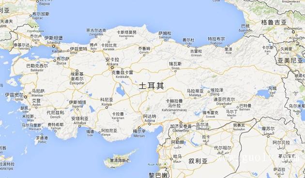 土耳其地图