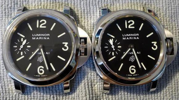 pam005难以辨认真伪高仿手表之一,真假对比,N厂精品之一