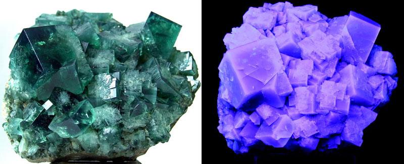 虽然萤石也是玻璃光泽,但是跟翡翠相比,就像云遮月一般,没有翡翠那样