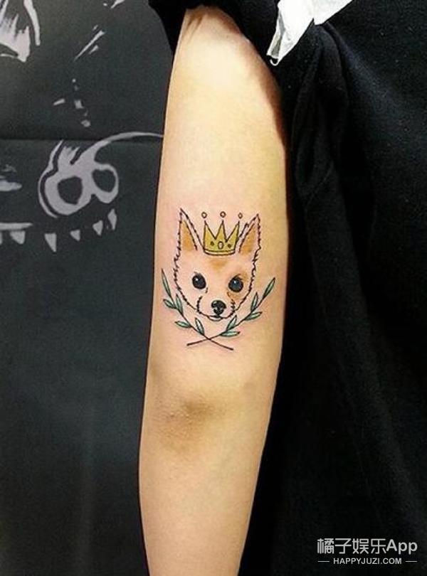 偷偷分享给闺蜜!宠物控必入,萌到香菇的纹身图案!