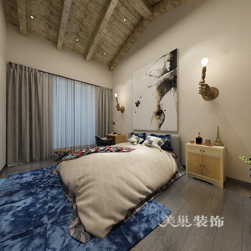 万正紫湖公馆装修效果图 90平复式四室两厅户型图片