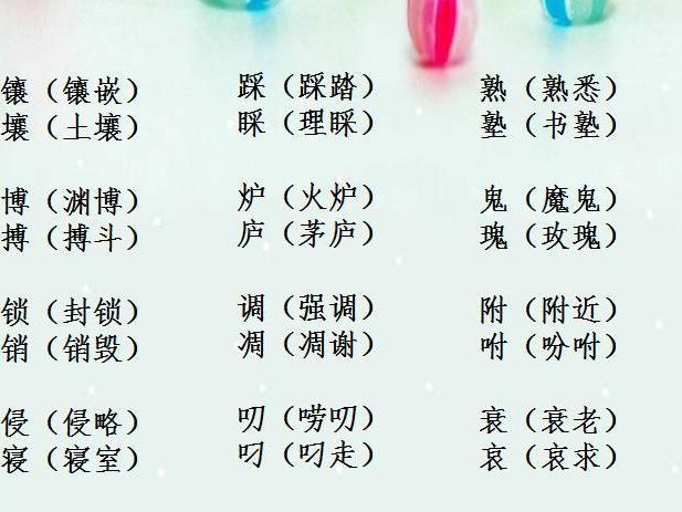 """盘点:小学16年级最易出错的54组""""形近字""""!"""""""