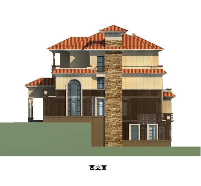 坡顶别墅屋顶内部