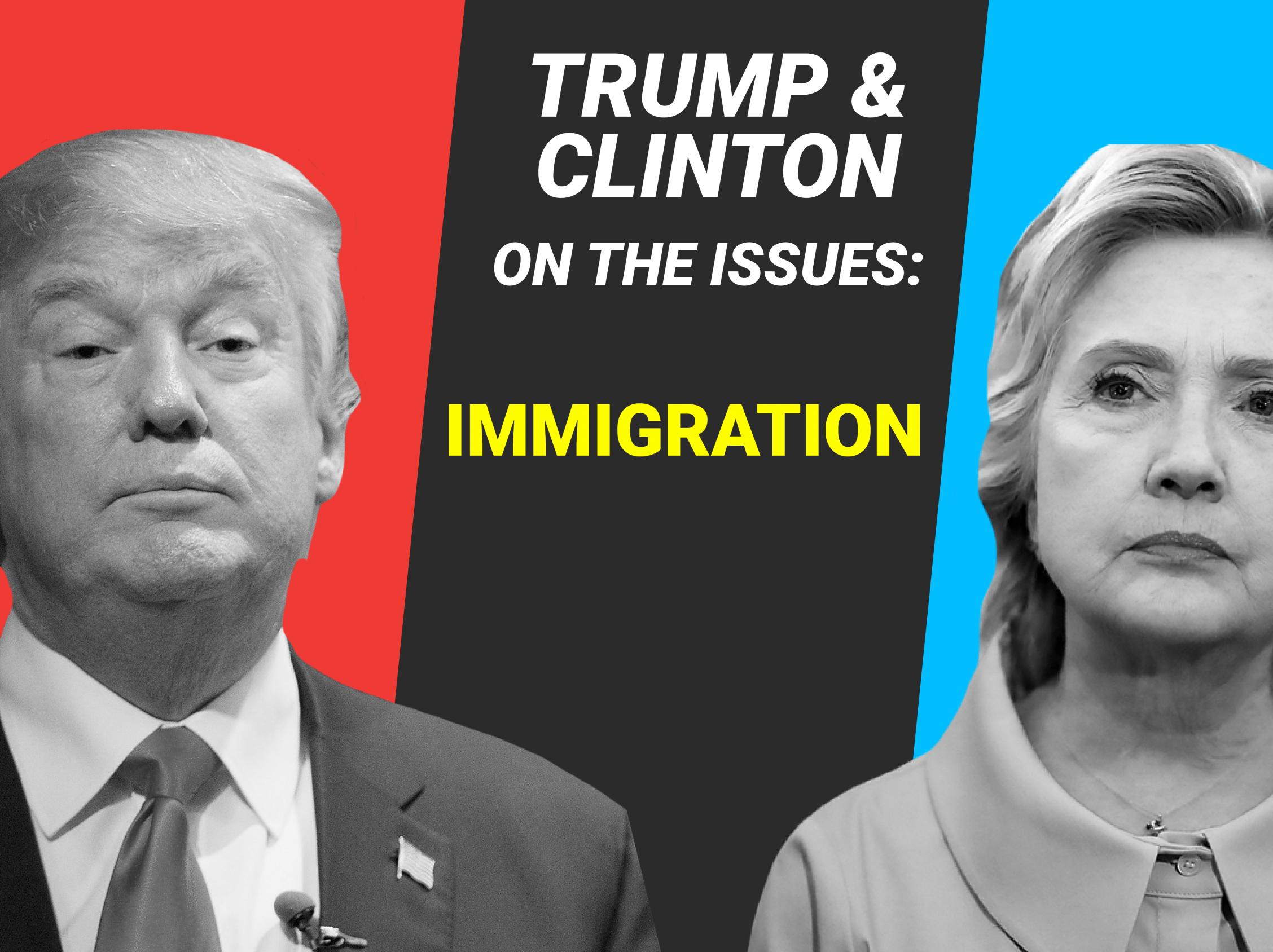 """希拉里和特朗普对移民改革的立场对比"""""""