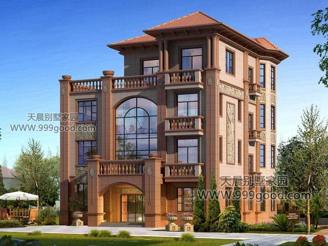 13x14米农村欧式别墅设计图,火遍全村的房子就是它图片