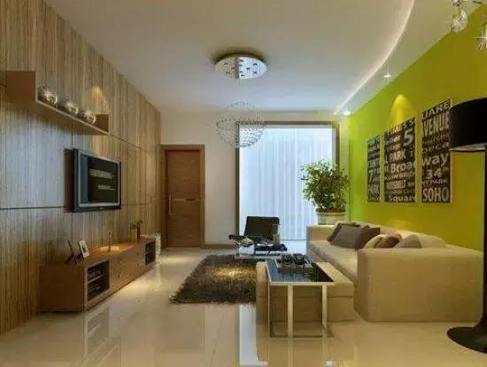 壁纸电视墙简单大方-最爱的简约大气电视背景墙装修效果图