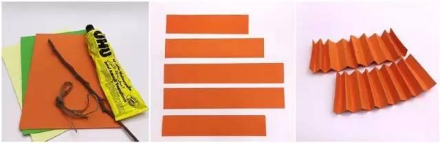 手工折纸的立体小南瓜,操作也很简单哦.
