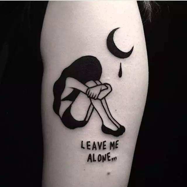 纹身师 | 韩国美女纹身师nini 适合女生的暗黑系纹身图片