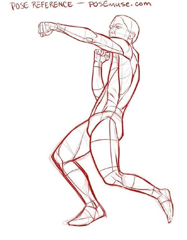 动漫人体绘画教程|人体姿势绘画素材
