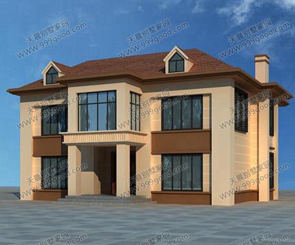 8x11.3二层经济型别墅设计图,挑空设计经典不落俗!