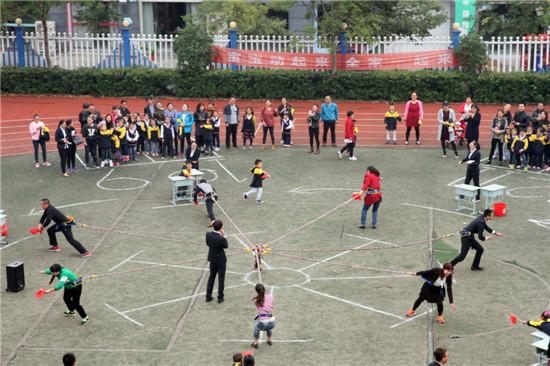 盱眙县第一小学举办第二届吉尼斯亲子运动会