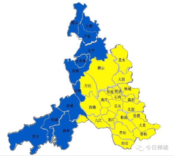 目前佛山市禅城,南海和顺德区台风黄色预警正在生效,三水区和高明区图片