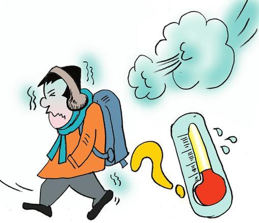 天气转冷问候语图片